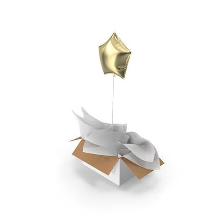 Gold Star Balloon Surprise Box