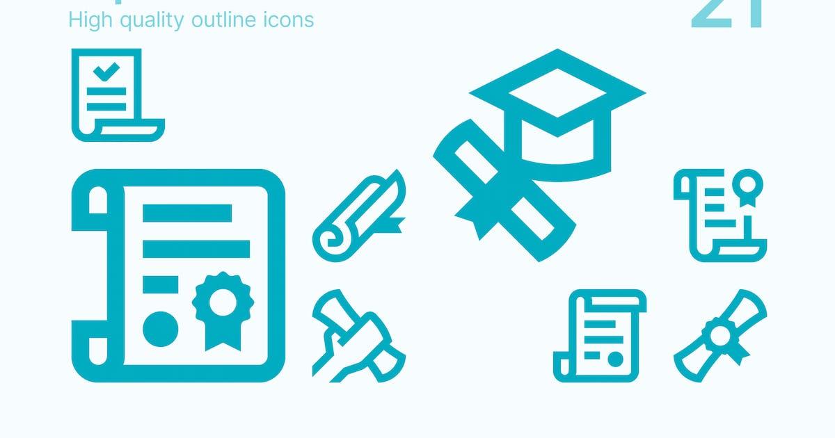 Download Diploma Icons by polshindanil