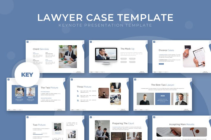 Thumbnail for Lawyer Case - Keynote Template