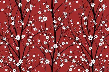 Cherry Tree - Seamless Pattern