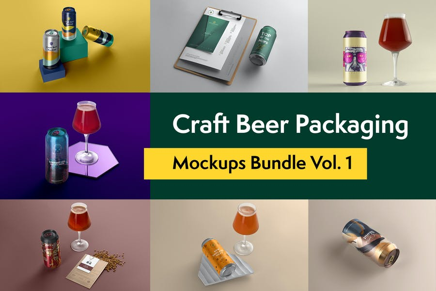 Craft Beer Packaging Mockups Vol. 1