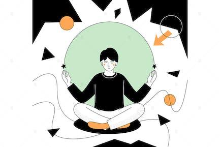 Mindfulness - flat design style illustration
