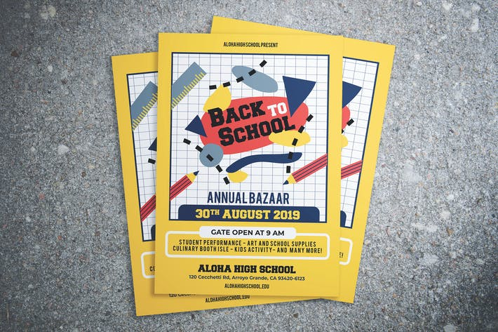 Thumbnail for Back To School Bazaar Flyer