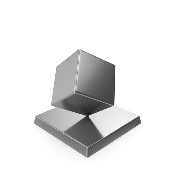 Cube Trophy Silver