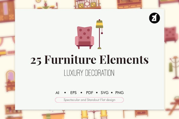 Thumbnail for 25 Furniture flat elements
