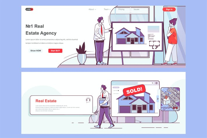Thumbnail for Real Estate Header Footer or Middle Content