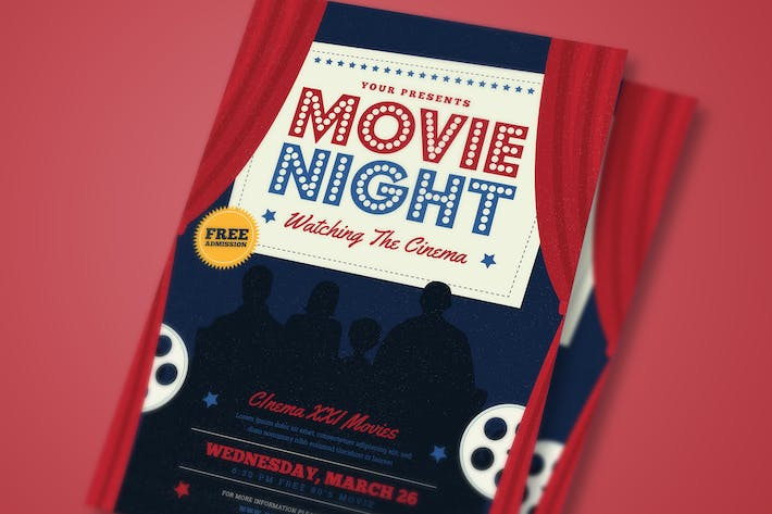 movie night event flyer by guuver on envato elements
