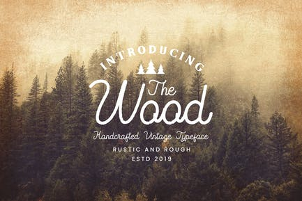 The Wood - Vintage Monoline Script
