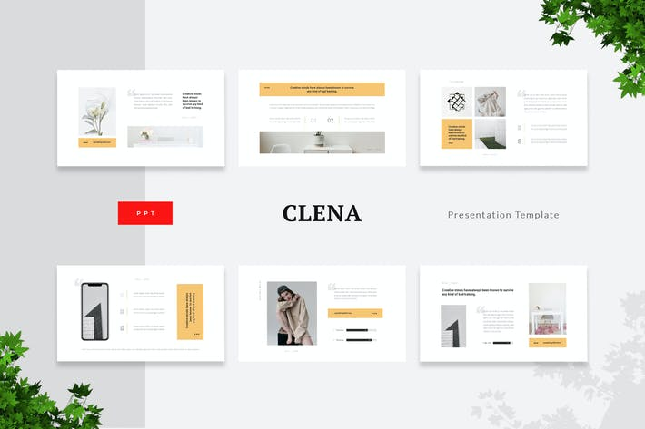 Thumbnail for Clena - Saubere Minimalismus Powerpoint-Vorlage