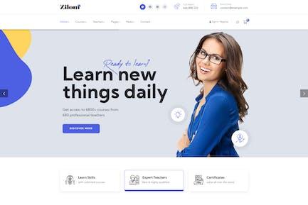 Zilom - Tema de WordPress para aprendizaje educativo en línea