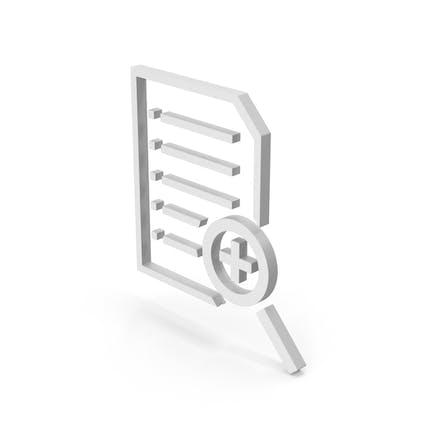 Symbol Document File Zoom