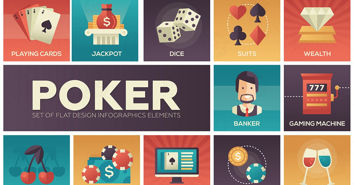 Download Poker - vector modern flat design icons set by BoykoPictures