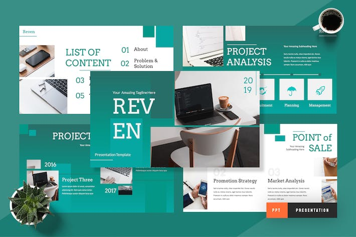 Thumbnail for Reven - Pitch Deck Powerpoint Presentation