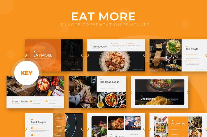 Thumbnail for Eat More - Keynote Template
