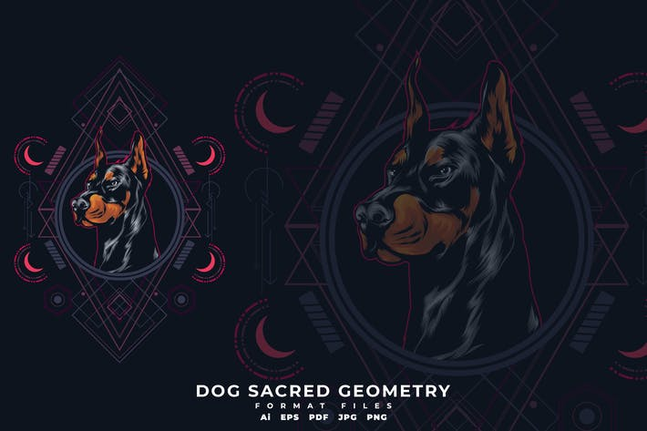 Thumbnail for Dog Sacred Geometry