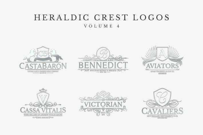 Thumbnail for Heraldic Crest Logos Set 4