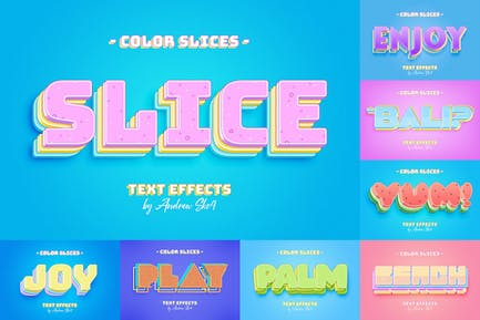 Slice Text Effects