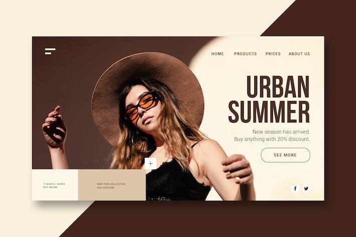 Thumbnail for Urban Clothing - Landing Page