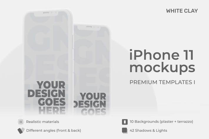 Thumbnail for iPhone 11 Premium Templates | Light Clay I