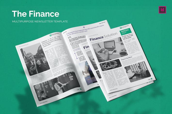 Thumbnail for Finance Solution - Newsletter Template