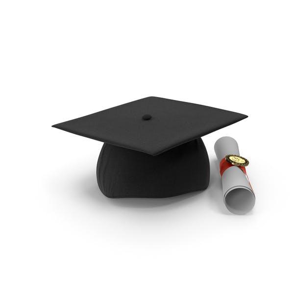 Degree Scroll and Graduation Cap