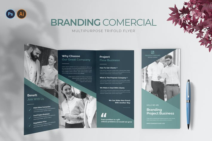 Branding Commercial – Trifold Brochure
