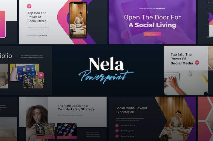 Thumbnail for NELA - Цифровой маркетинг Powerpoint Шаблон