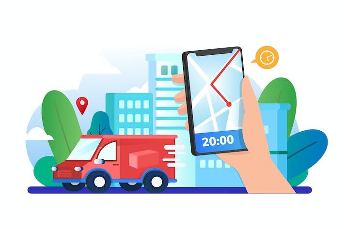 Thumbnail for Customer using mobile app for tracking order