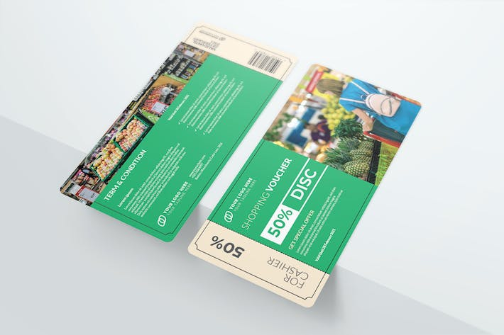 Supermarket Voucher Template