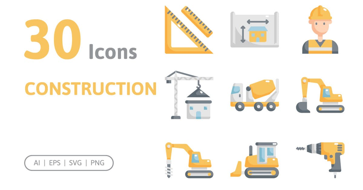 Download 30 Construction Icons by konkapp