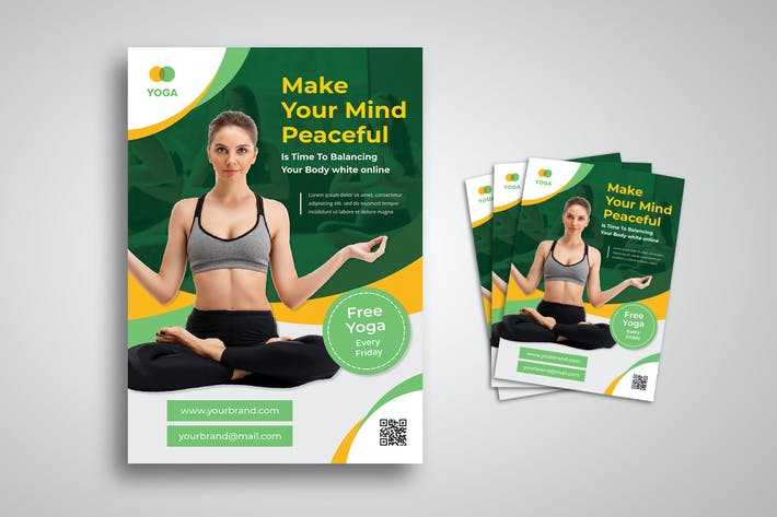 Thumbnail for Yoga Online Class Flyer