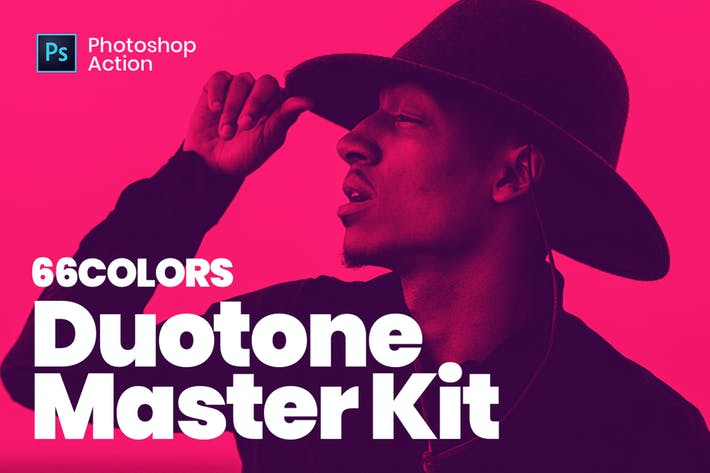 Thumbnail for Duotone Master Kit - Super Easy Photoshop Actions