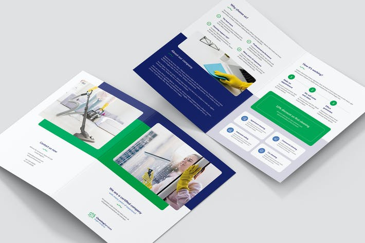 Thumbnail for Brochure – Cleaning Service Bi-Fold