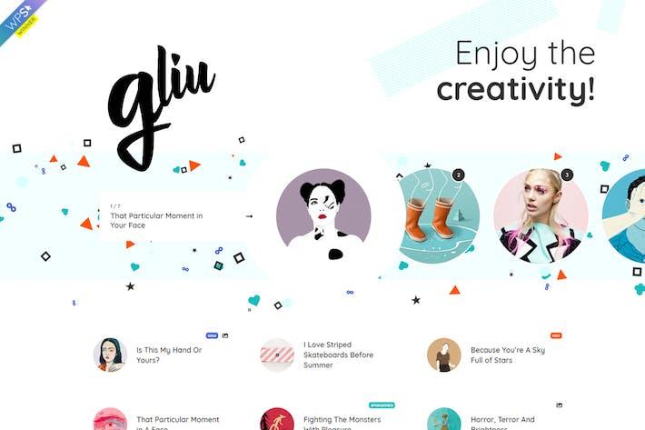 Thumbnail for Gliu - Creative WordPress Blog Thema
