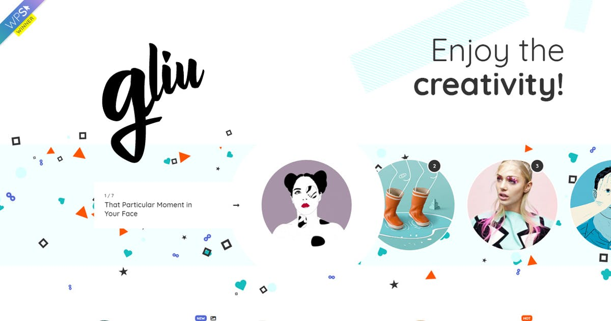 Download Gliu - Creative WordPress Blog Theme by Burnhambox
