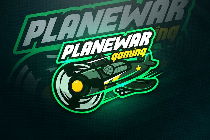 Thumbnail for Planewar Gaming - Mascot & Esport Logo