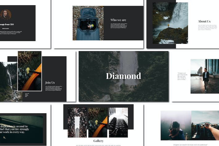 Cover Image For Diamond - Google Slides
