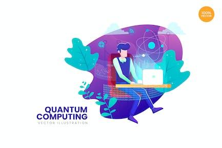 Quantum Computing Vector Illustration Concept