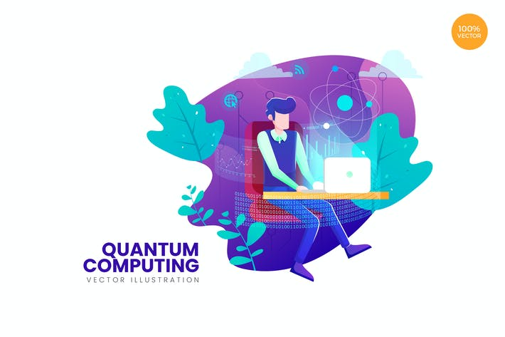 Thumbnail for Quantum Computing Vector Illustration Concept