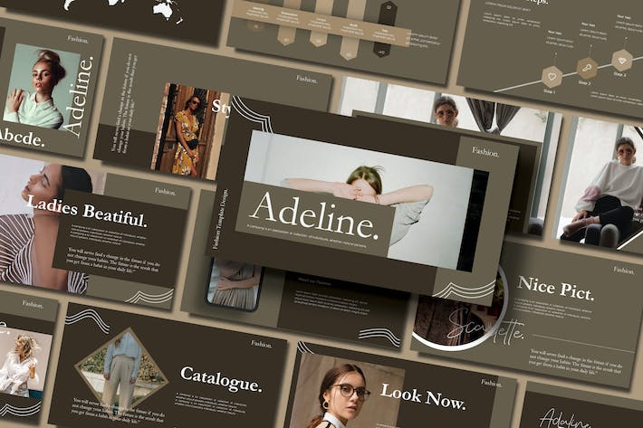 Thumbnail for ADALINE - FASHION Google Slides Template