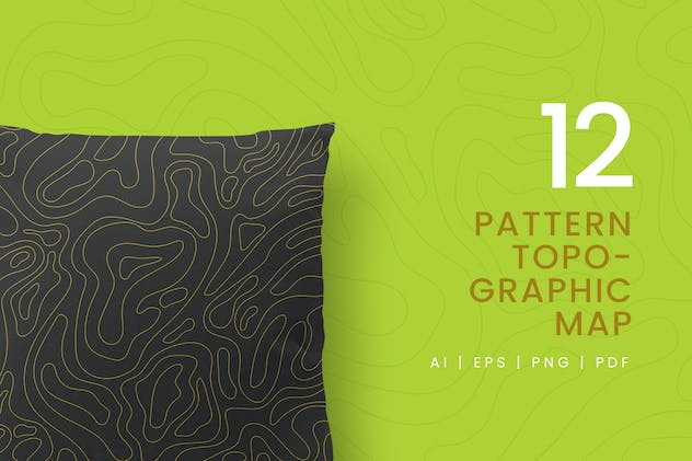 12 Seamless Topographic Pattern