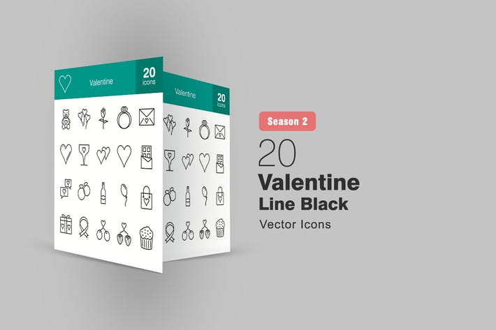 Thumbnail for 20 Valentine Line Icons