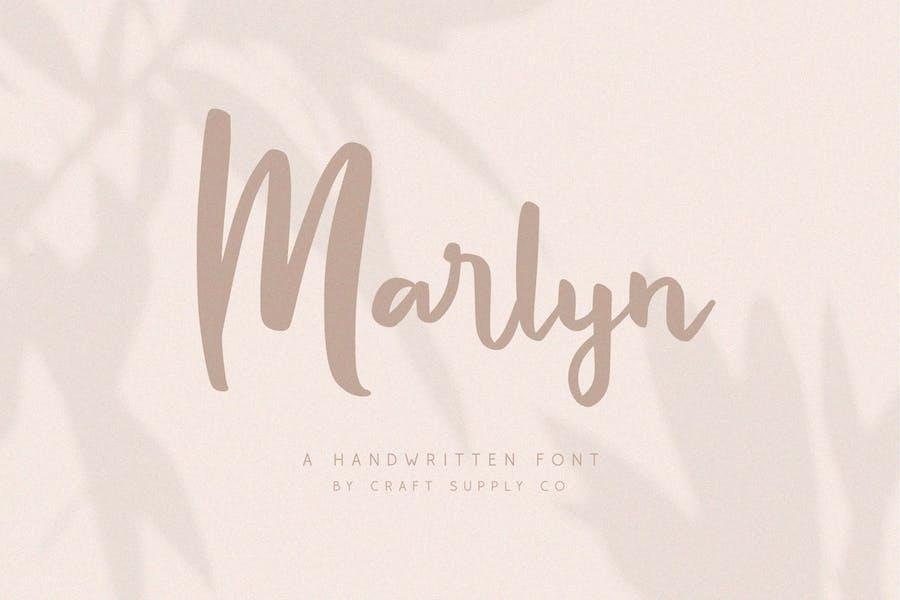 Marlyn - Handwritten Script Font