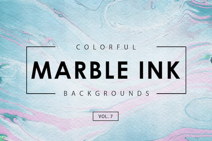 Thumbnail for Colorful Marble Ink Backgrounds 7