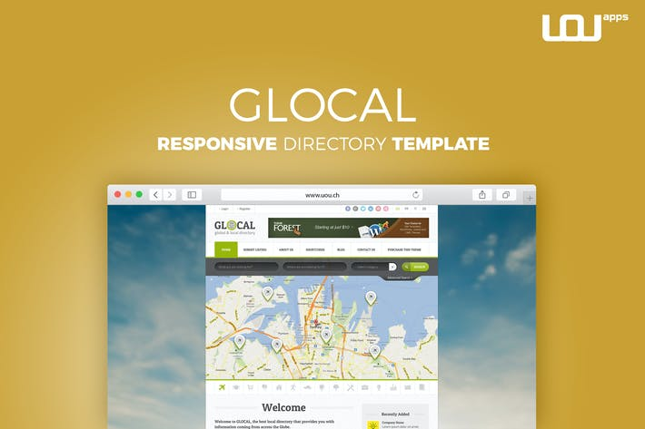 Thumbnail for Glocal - Responsive Directory Template