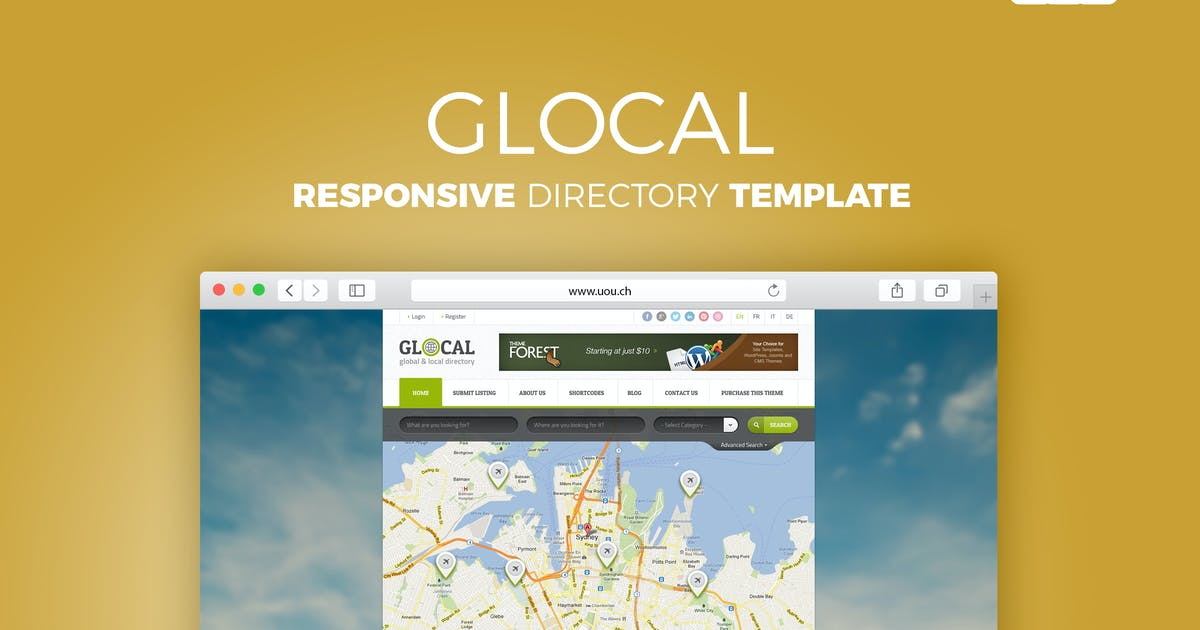 Download Glocal - Responsive Directory Template by DirectoryThemes