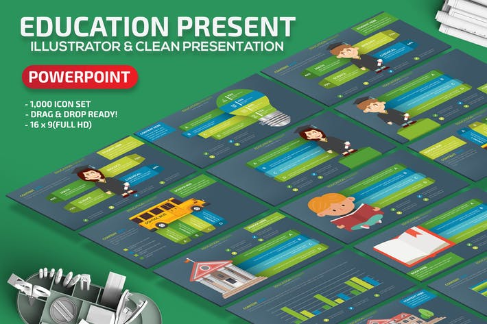 Thumbnail for Education Powerpoint Slides Template