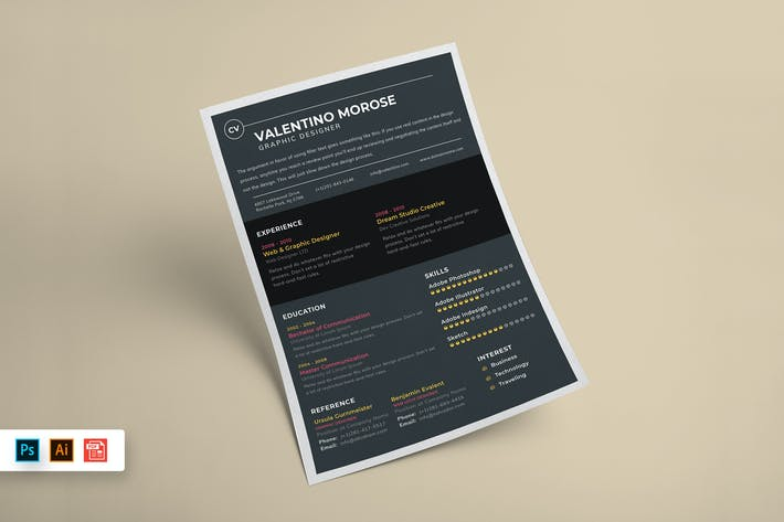Cover Image For Resume CV Template-58