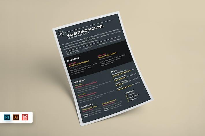 Thumbnail for Resume CV Template-58