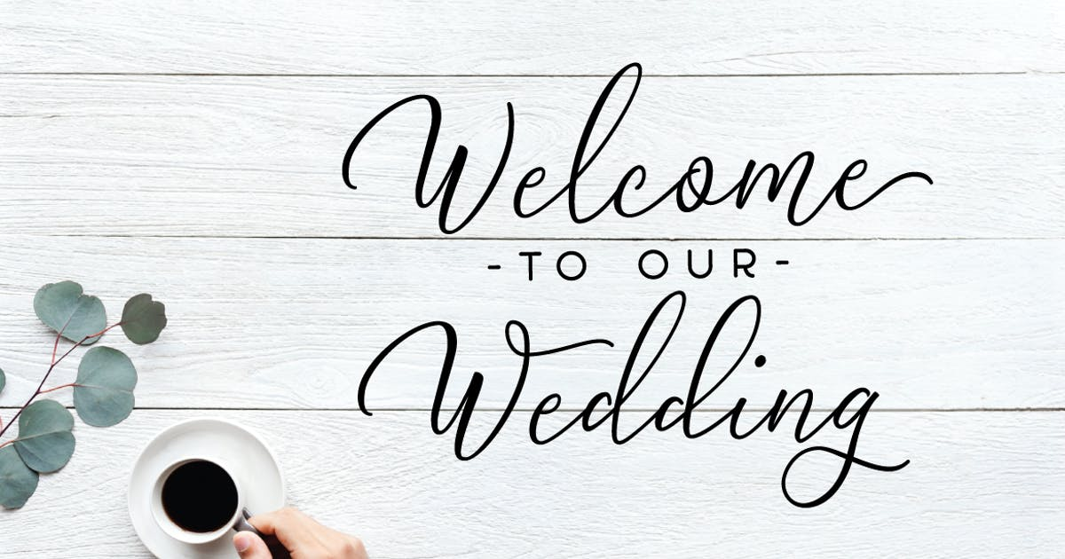 Download Welcome to our wedding SVG quote by yipianesia